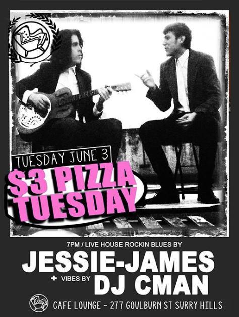 TUESDAY 3RD JUNE - JESSIE JAMES + DJ CMAN